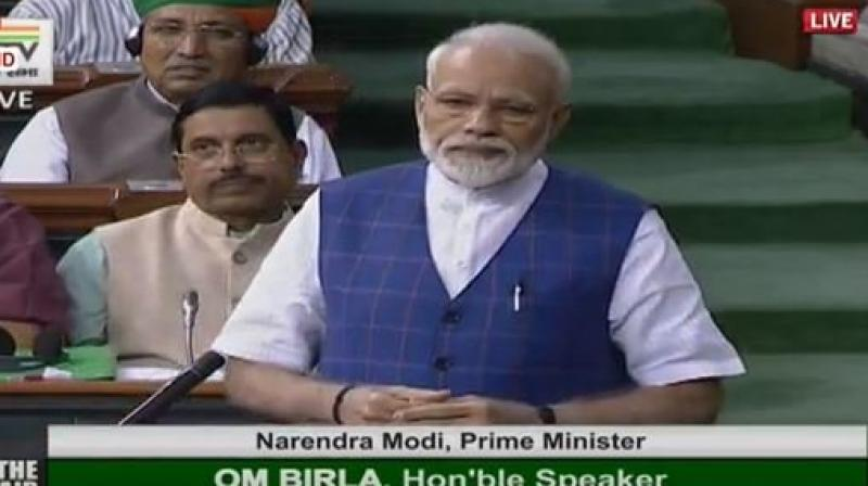 When his remarks drew a sharp reaction from the Congress, the Prime Minister said he could share the YouTube link of the interview. (Photo: ANI | Twitter)