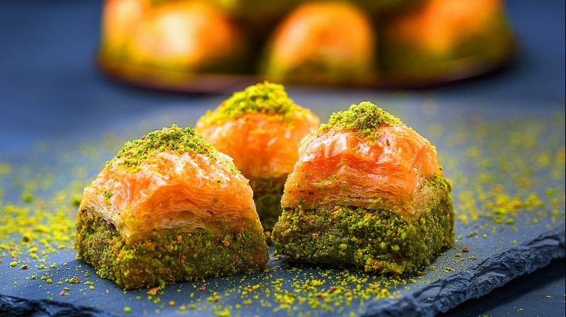 Baklava is generally served on special occasions in many areas during religious ceremonies.