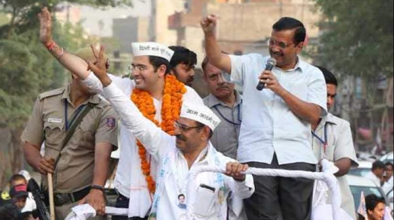 The roadshow come two days after he was slapped by a man in New Delhi constituency. (Photo: AAP | Twitter)