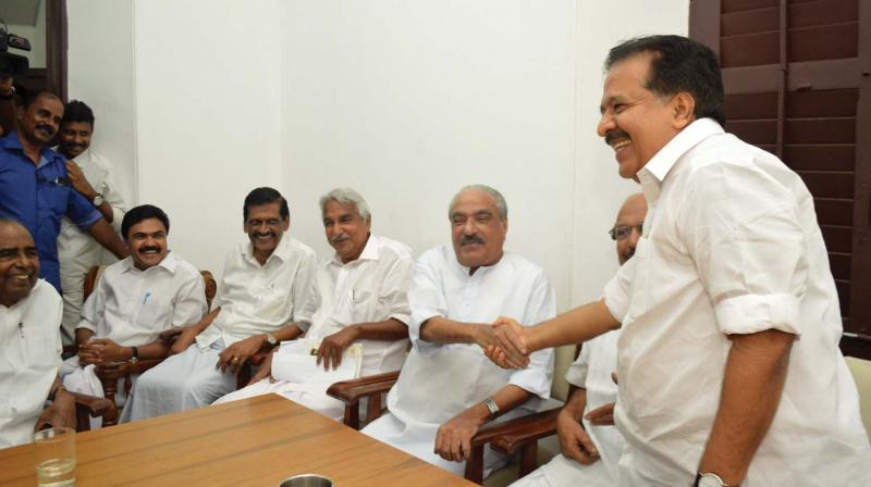 Image result for k m mani with jose k mani