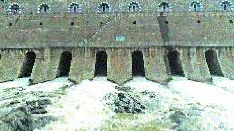 Water gushing out of Mettur reservoir on salem on Tuesday. (Photo: DC)