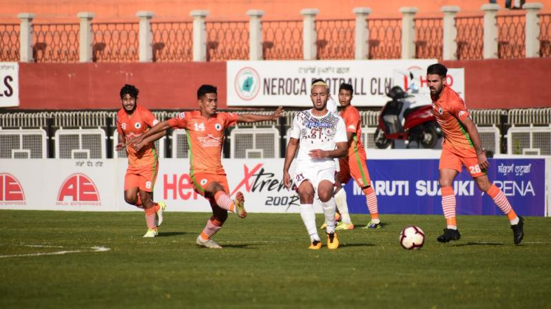 Neroca scored the winner through a flag-kick after Bagan defender Gurjinder bungled big time. (Photo: I-League/Twitter)