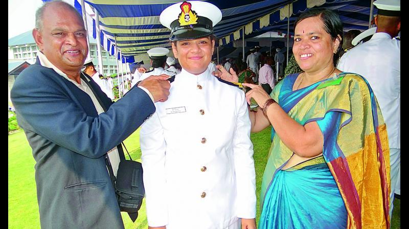 Lieutenant Commander Aishwarya Boddapati with her (Image DC)