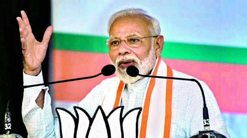 "As voting is underway for Maharashtra and Haryana Assembly elections, and by-elections in several states, Prime Minister Narendra Modi on Monday urged voters to ""turnout in record numbers"". (Photo: File)"