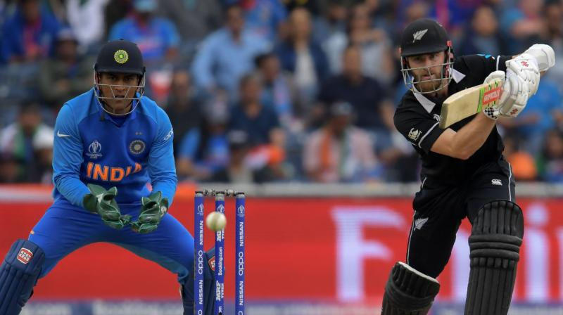 It took New Zealand 17 balls to score the first run of the match and India did not have long to wait for Guptill's wicket in any event. (Photo: AFP)
