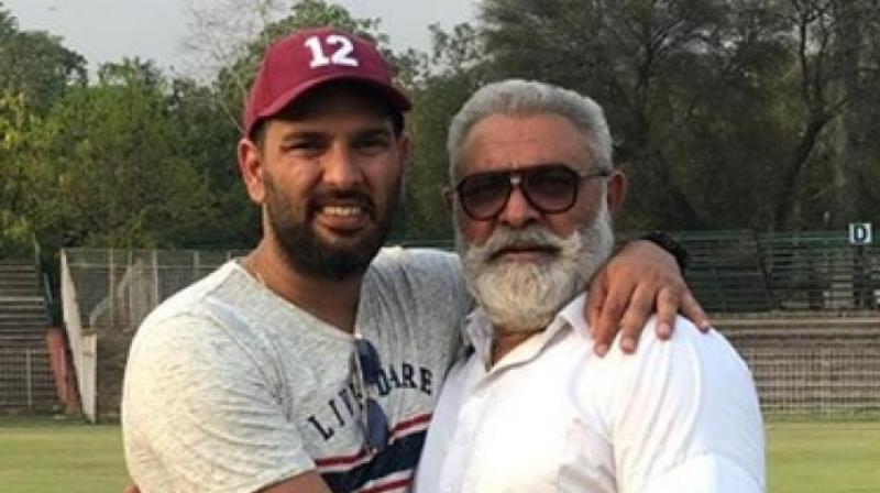 Yuvraj Singh with Yograj Singh. (Photo: Yograj Singh/Facebook)