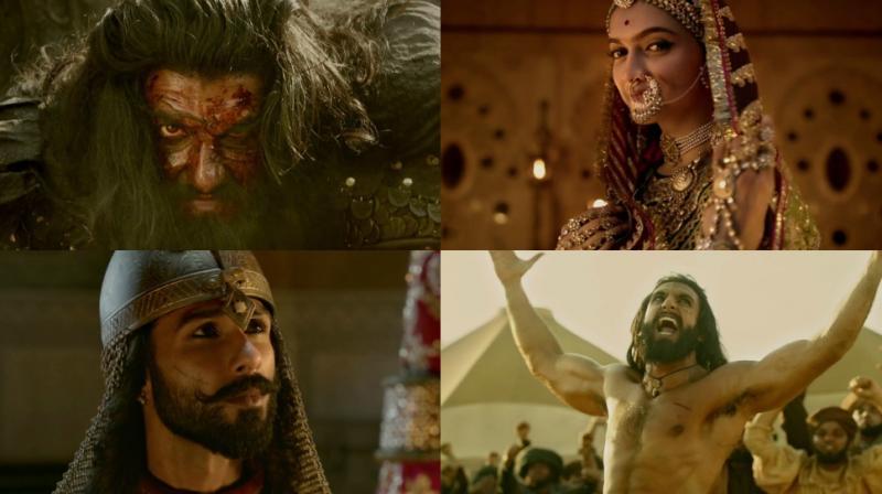 Screengrabs from 'Padmavati' trailer.