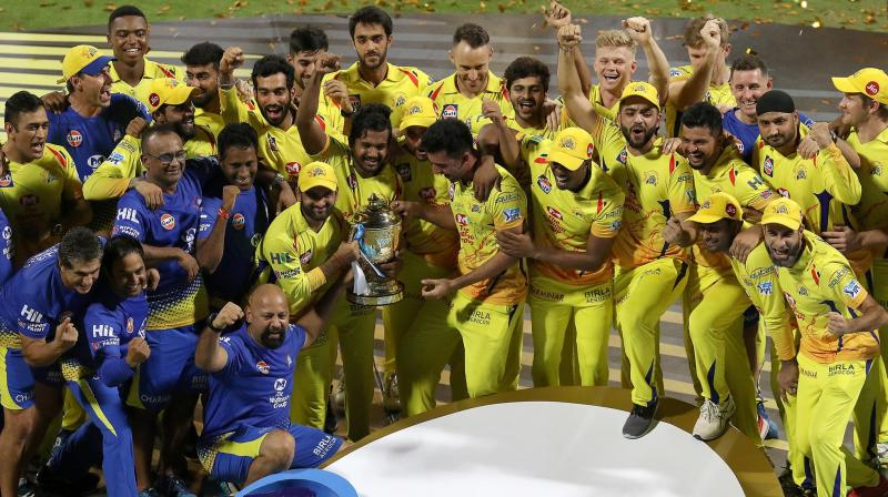 Making a comeback to the Indian Premier League (IPL) after two years, MS Dhoni-led Chennai Super Kings beat Sunrisers Hyderabad to clinch their third IPL title. (Photo: BCCI)