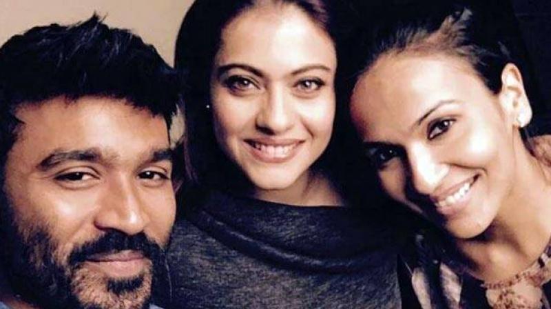 Kajol, Soundarya and Dhanush.