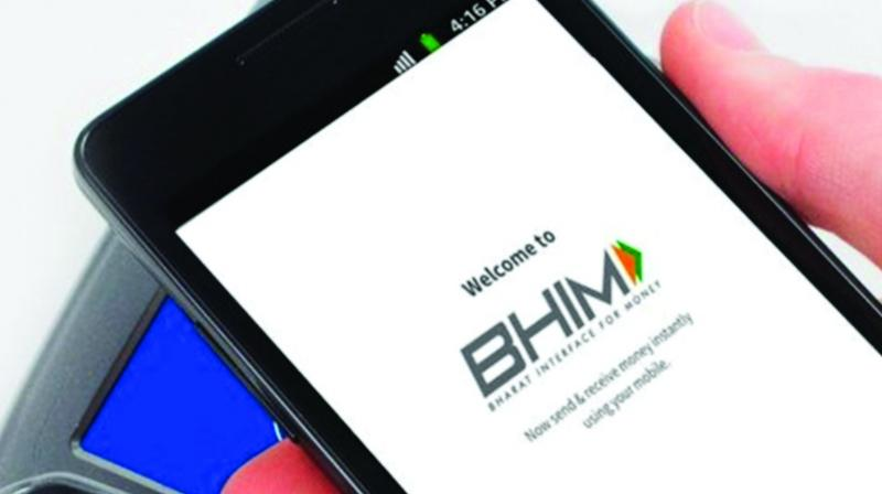 BHIM digital payment application. (Photo: File)