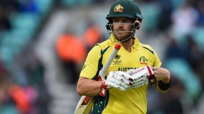 Aaron Finch was dismissed for 27 runs by Kuldeep Yadav. (Photo: AP)