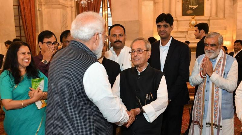 Taking to Twitter, the Prime Minister thanked Mukherjee for his contribution towards making India more developed. (Photo: ANI)