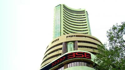 The broader NSE Nifty closed 48.20 points, or 0.39 per cent, down at 12,214.55.