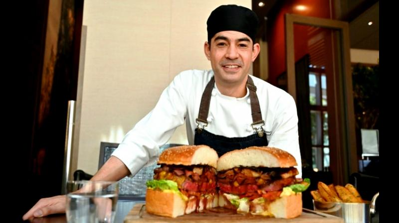Chef Patrick Shimada's giant burger to celebrate the new emperor weighs three kilograms (six pounds) and costs USD 900. (Photo: AFP)