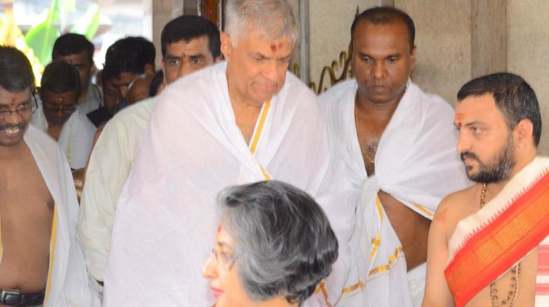 Sri Lanka's PM Wickremesinghe at Kollur temple to offer prayers