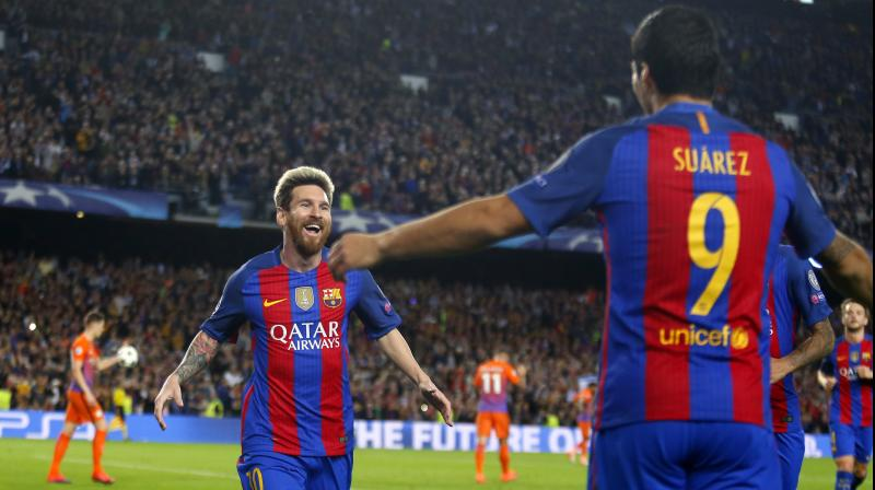 e9355e8975c Lionel Messi spoiled Pep Guardiola s homecoming by scoring a hat-trick in Barcelona s  4-