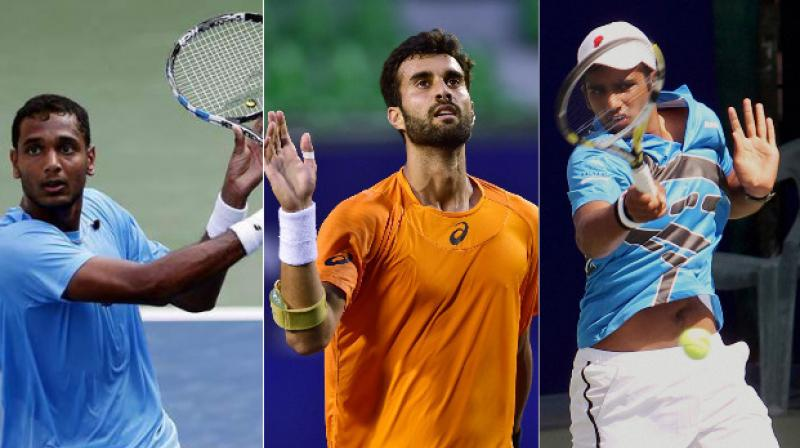 India's top-ranked singles players Yuki Bhambri and Ramkumar Ramanathan have been handed wildcard for the inaugural Tata Open Maharashtra scheduled to start in Pune this month.  Local lad Arjun Khade also received a wildcard for the tournament.(Photo: PTI)