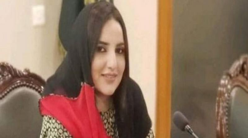Hareem, who has over a million fans on the social media video app was seen roaming around the high-security office and even sitting down in the chair used by the foreign minister. (Photo: ANI)