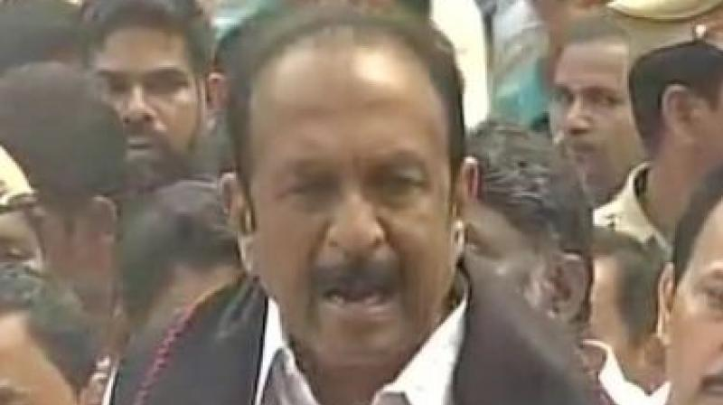 Disturbed over the Cauvery water dispute, MDMK leader Vaiko's kin attempts self-immolation