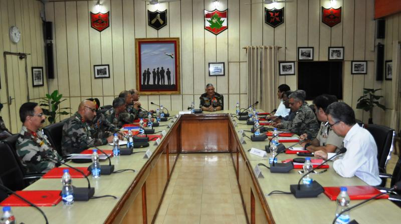 Army chief General Bipin Rawat holds meeting with Army officers in Srinagar, review situation post Amarnath terrorist attack on Monday (Photo: DC)