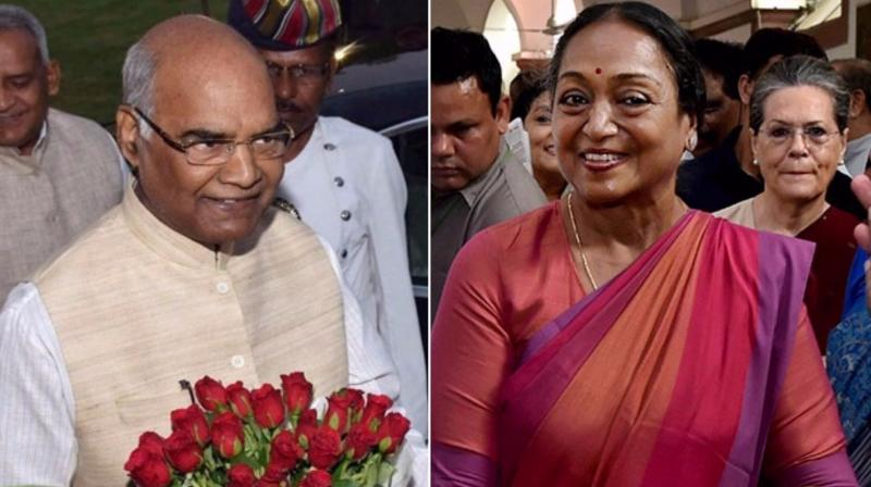 Opposition candidate Meira Kumar and NDA candidate Ram Nath Kovind (Photo: PTI)