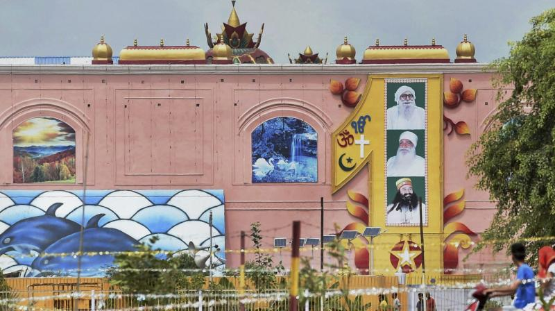 A mammoth exercise to carry out 'sanitisation' of the sprawling Dera Sacha Sauda sect headquarters was underway in Sirsa. (Photo: PTI)