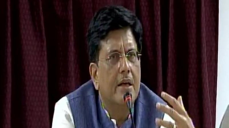 Coal Minister Piyush Goyal on Tuesday said his ministry is taking urgent steps to ensure coal supplies to power stations stabilise by month end or by early October. Photo: ANI