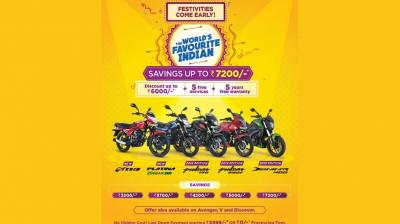 Offers are applicable on all Bajaj models and are valid till October 31.