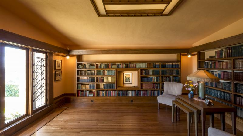 Hollyhock House - Library Wide. (Photo: File)