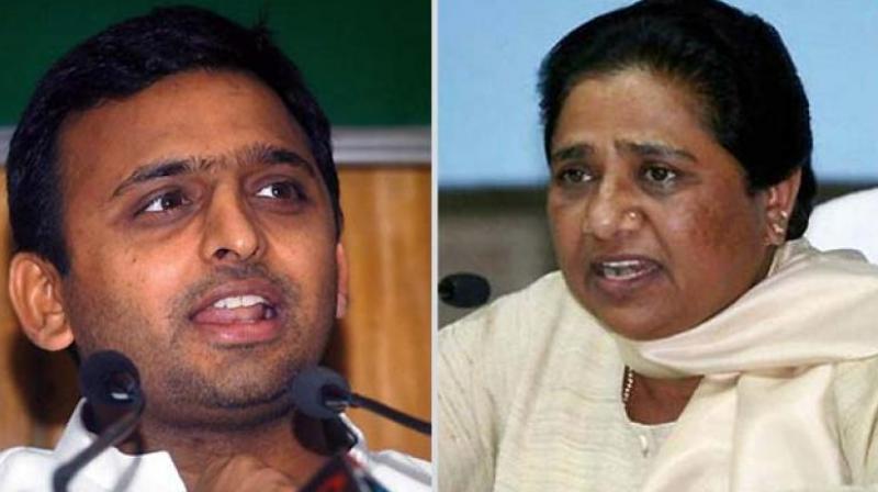SP chief Akhilesh Yadav and BSP president Mayawati. (Photo: File)