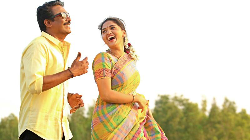 Samuthirakani and Sunainaa in Thondan