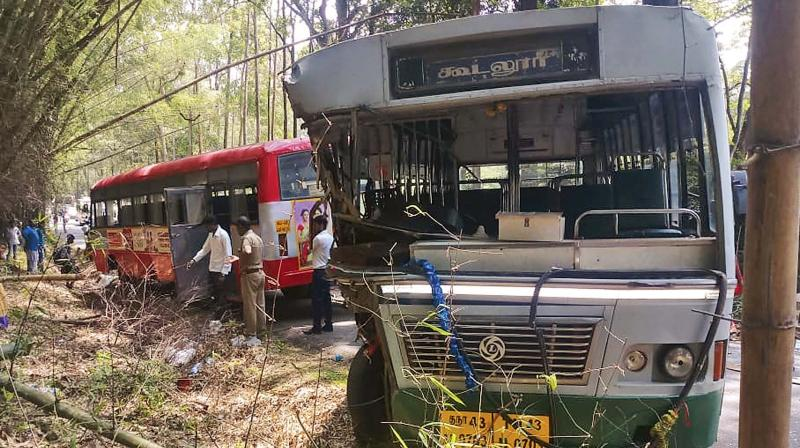 Ooty: 20 hurt as buses collide on MTR stretch