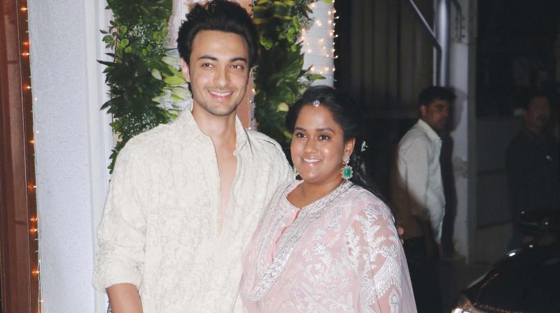Aayush Sharma and Arpita Khan Sharma