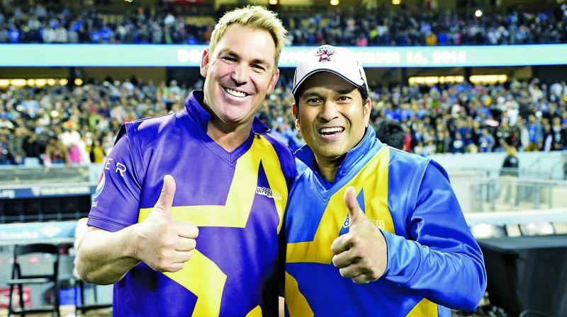 Shane Warne and Sachin Tendulkar.