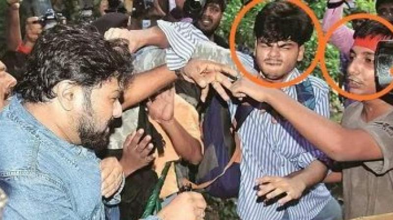 """We shall rehabilitate you mentally so that you & your Hooligan Friends (all footages available with the media) behave like you are supposed to behave as students .. till then,"" Supriyo said. (Photo: Twitter 