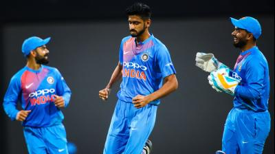 The Men in Blue have clinched their previous seven T20I series and would be hoping to extend their dominance in the shortest-format. (Photo: AFP)