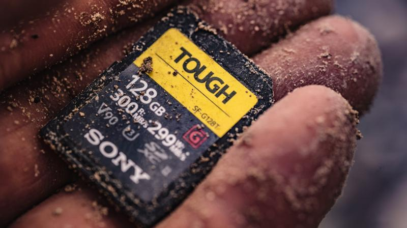 The Sony SD cards have a fastest read speed up to 300MB/s and write speed up to 299MB/s.