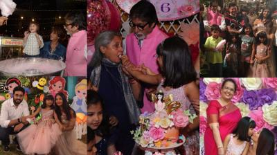 Several inside pictures from the birthday bash of Aishwarya Rai Bachchan and Abhishek Bachchan's daughter Aaradhya on Saturday was shared on social media. (Photo: Twitter/ Instagram)