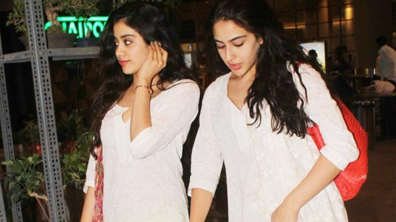 Sara Ali Khan and Janhvi Kapoor.