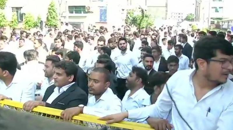 One Assistant Sub-Inspector was suspended and a special investigation team (SIT) was constituted to probe the violence on Saturday.  (Photo: ANI)