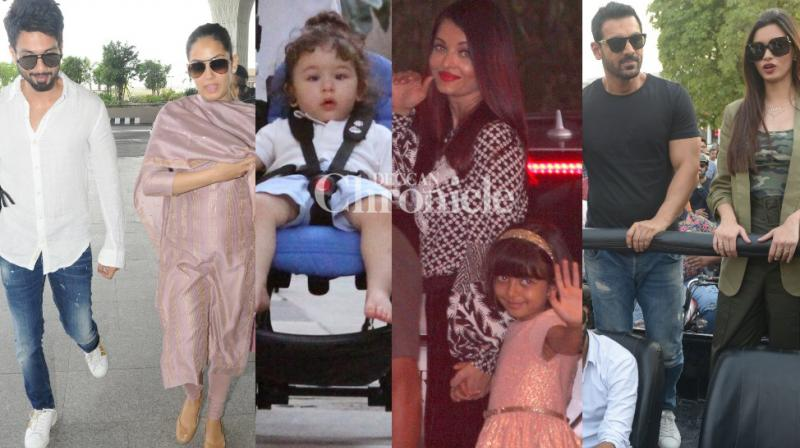 Celebrities from B-Town gave paparazzi at work a busy day by being spotted around the country on Tuesday. (Photo: Viral Bhayani)