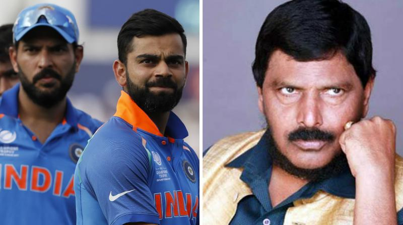 """""""How could the cricketers, who played so well in the entire tournament, did not perform in the final match (in London on June 18)?"""" the RPI(A) leader Ramdas Athawale asked. (Photo: AP / PTI)"""