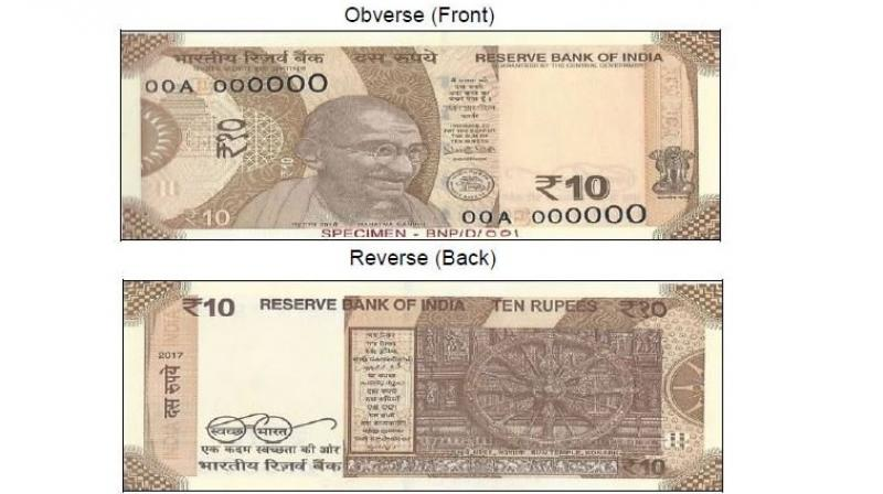 All the banknotes in the denomination of Rs 10 issued by RBI in the earlier series will continue to be legal tender. (Photo: ANI)