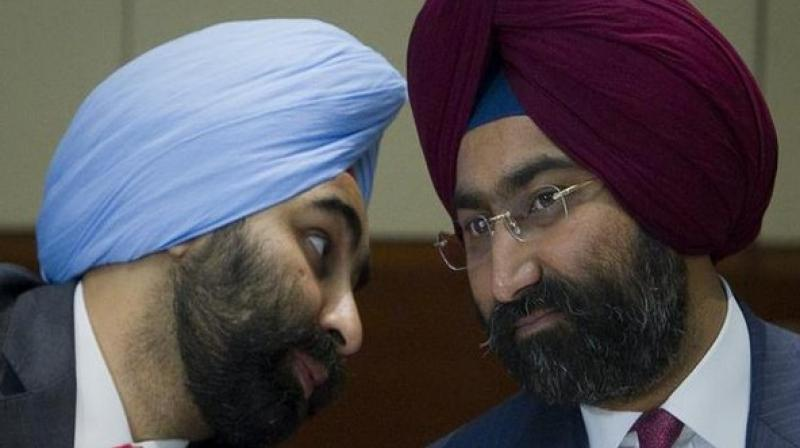 Promoters of Fortis Healthcare, Malvinder Singh and Shivinder Singh. (Photo: ANI)