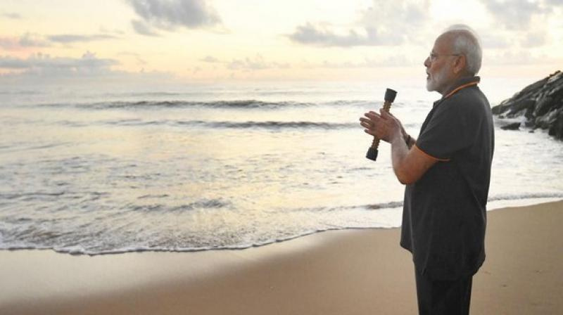 In his eight-paragraph poem, the Prime Minister talked about the ocean's relationship with the sun, waves and its pain and restraint despite unparallel power. (Photo: File)