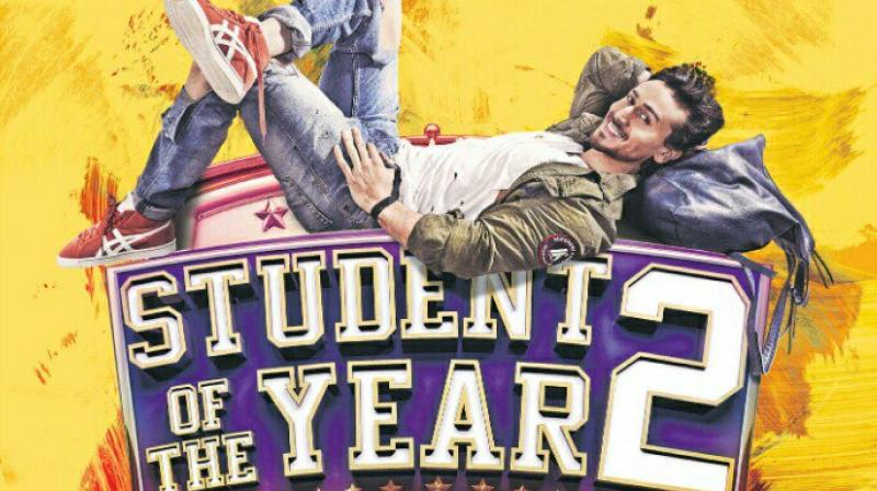 Tiger Shroff on 'Student Of The Year 2' poster.