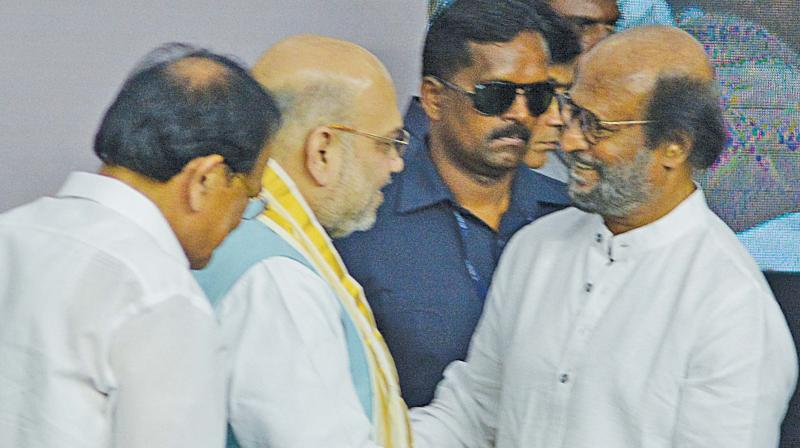 Congress in Tamil Nadu on Monday took potshots at superstar Rajinikanth for likening Prime Minister Narendra Modi and Home Minister Amit Shah to Lord Krishna and Arjuna and asked him to read the Mahabharat properly. (Photo: File)