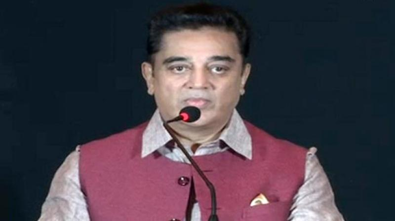 Veteran actor Kamal Haasan said it was a matter of 'joy' that the Centre's attention has 'slightly' turned towards farmers and rural areas. (Photo: ANI)