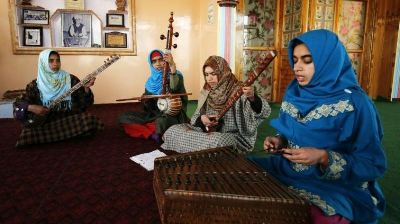 Kashmiris were turning away from classical music and towards protest rap songs inspired by the tense politics of the heavily militarised region. (Photo: AFP)