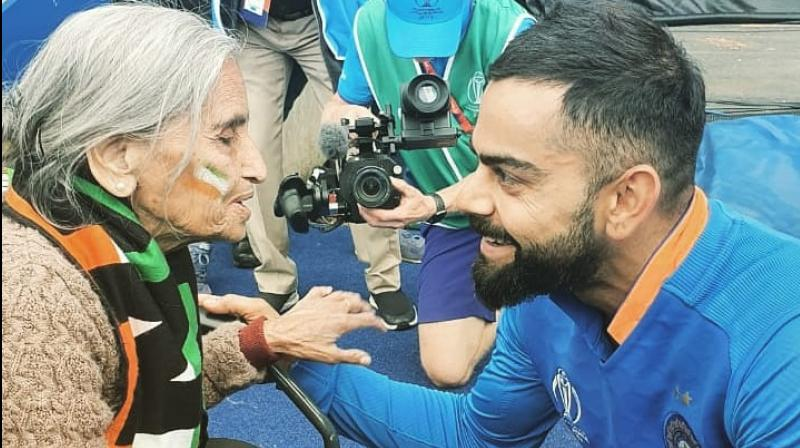 Virat Kohli was seen having a conversation with her after India's victory. (Photo: Virat Kohli   Twitter)
